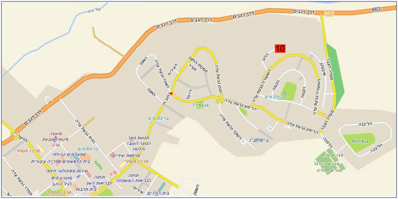 להפליא Map to Rafi's studio in Givat Ada SG-87