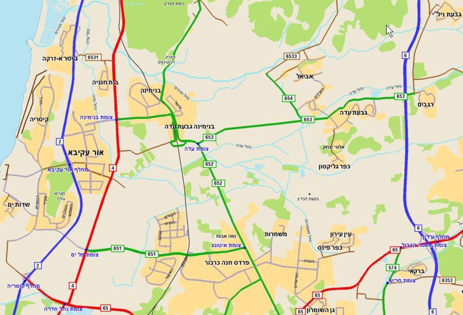 כולם חדשים Map to Rafi's studio in Givat Ada KQ-86